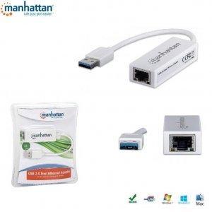 Karta sieciowa Manhattan USB 2.0 na RJ45 10/100