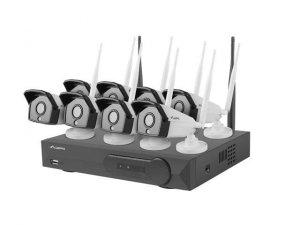 Zestaw do monitoringu Lanberg ICS-0808-0020 rejestrator NVR 8 kanałowy WiFi + 8 kamery IP 2 Mpx z akcesoriami
