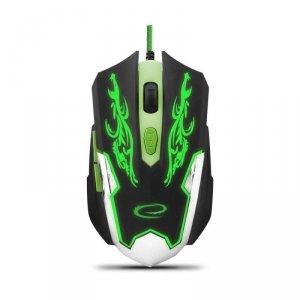Mysz przewodowa Esperanza MX405 Cyborg optyczna Gaming 6D USB czarno-zielona