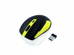 Mysz bezprzewodowa iBOX Bee2 Pro optyczna czarno-żółta
