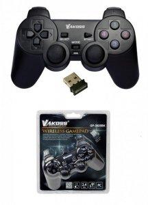 Gamepad bezprzewodowy VAKOSS GP-3925BK USB funkc Dual Shock