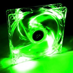 Wentylator systemowy Akyga AW-12A-BG 12cm LED zielony Molex
