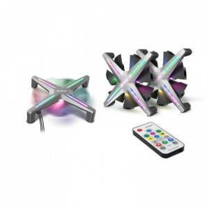 Wentylator Inter-Tech ALSEYE X12 RGB Kit x3 szary