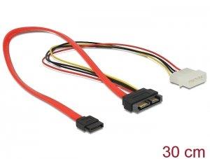 Kabel SATA Slimline male + 4 pin power 12 V - SATA