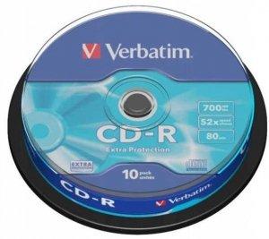 CDR VERBATIM 700MB, prędkość 52x, /1szt