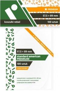 Koszulki na karty Rebel (57,5x89 mm) Standard American Premium 100 sztuk