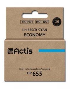 Tusz ACTIS KH-655CR (zamiennik HP 655 CZ110AE; 12 ml; niebieski/cyan)