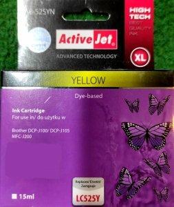 Tusz Activejet AB-525YN (zastępuje LC525Y, 15ml yellow)
