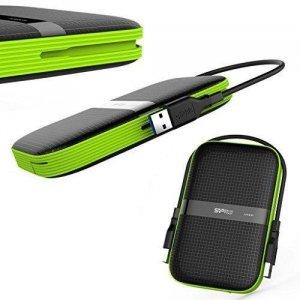 Dysk zewnętrzny 4TB USB 3.0 Silicon Power ARMOR A60 BLACK-GREEN/PANCERNY wstrząso/pyło i wodoodporny IPX4