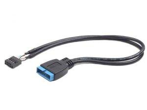 Gembird przedłużacz USB PIN HEADER USB 3.0 19pin -|} USB 2.0 9pin, 30cm