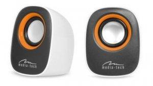 MEDIATECH MT3137W IBO - Głośniki stereofoniczne zasilane z portu USB, RMS 6W