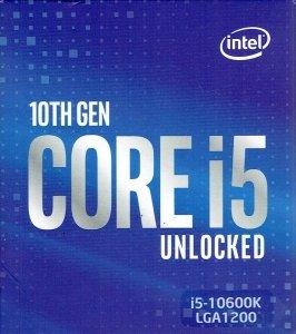 Procesor Intel Core i5-10600K Comet Lake 4.1 GHz/4.8 GHz (6-rdzeni - 12 wątków) LGA1200 BOX