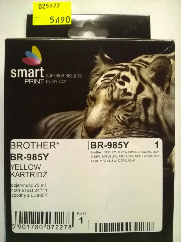BROTHER LC985 YELLOW     smart PRINT