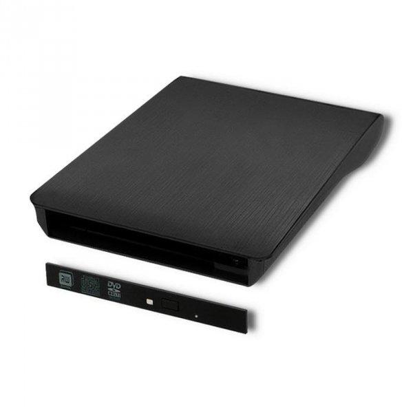 Obudowa/kieszeń Qoltec na napęd optyczny CD/DVD SATA | USB3.0 | 9.5mm