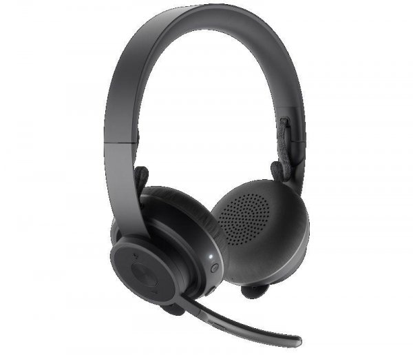 Słuchawki z mikrofonem Logitech MS Zone Wireless bezprzewodowe czarne