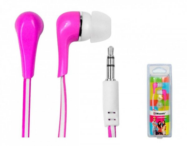 Słuchawki Msonic MH132EP różowe