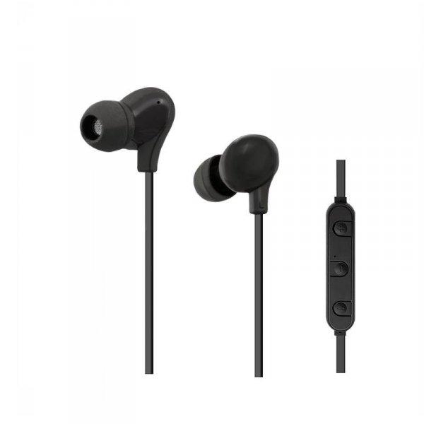 Słuchawki z mikrofonem Qoltec bezprzewodowe BT czarne