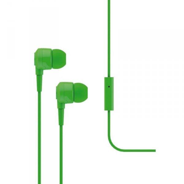 Słuchawki douszne z mikrofonem Ttec J10, zielone