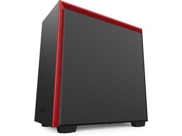 Obudowa NZXT H710I Midi Tower czarno-czerwona z oknem
