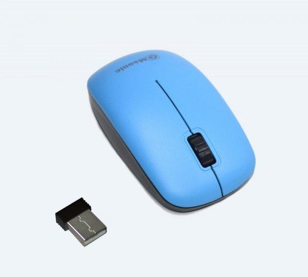 Mysz bezprzewodowa Msonic MX707B optyczna 3 przyciski 1000dpi niebiesko-czarna