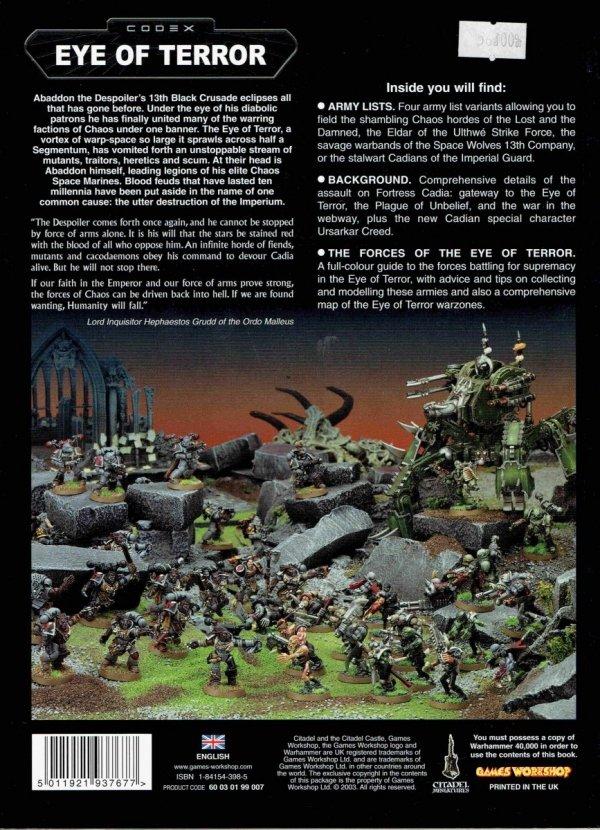 Codex Eye of Terror tył okładki