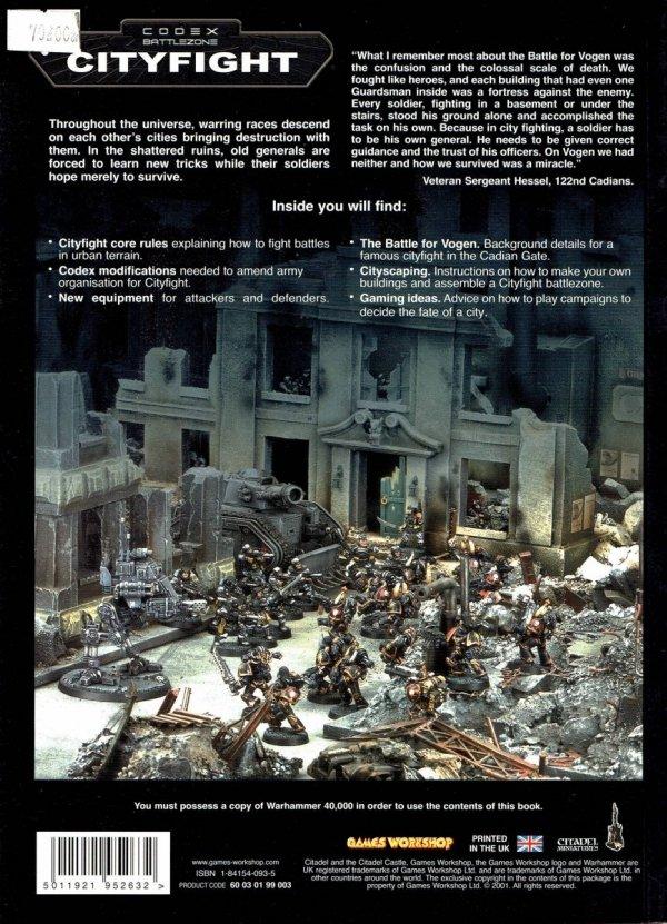 Cityfight. Codex Battlezone tył okładki