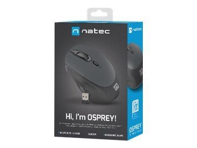 Mysz Bezprzewodowa  NATEC Osprey wireless mouse Bluetooth+2.4GHz 1600DPI black-gray