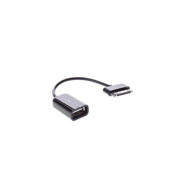 Techly USB OTG adapter do Samsunga Galaxy Tab, czarny, 20cm