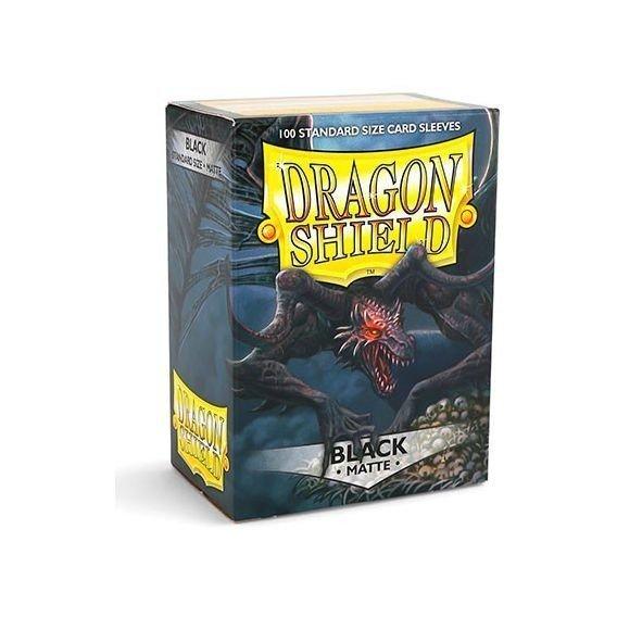Koszulki Dragon Shield Standard Sleeves - Matte Black (100 Sleeves)