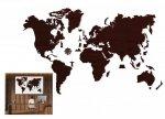 Drewniane puzzle 3D Wooden.City Mapa Świata XL Dark Oak  #T1