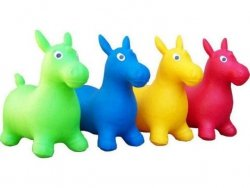 Skoczek gumowy koń mix kolor