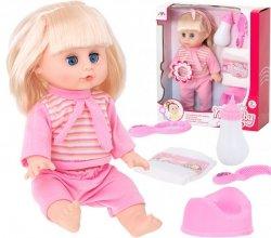 Lalka Zuzia z włosami dźwięk + akcesoria 35cm