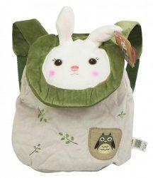 Plecak METOO królik zielony z sową 28cm