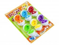 Zabawka Edukacyjne Jajka Dopasuj kształty i kolory