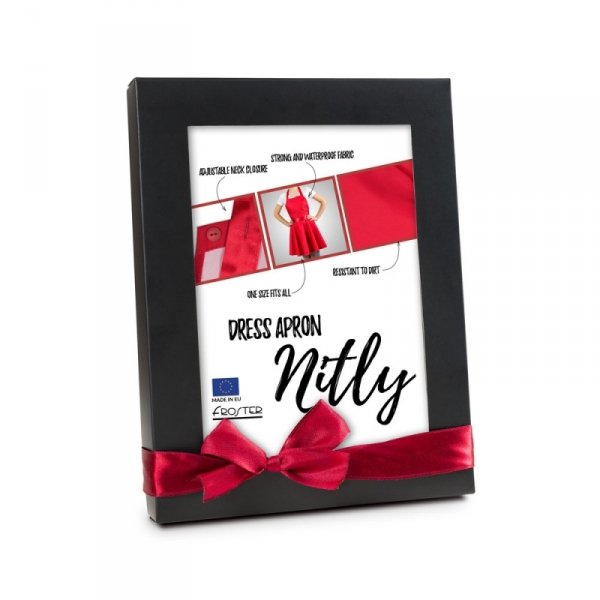 Nitly Red - Fartuszek Sukienka
