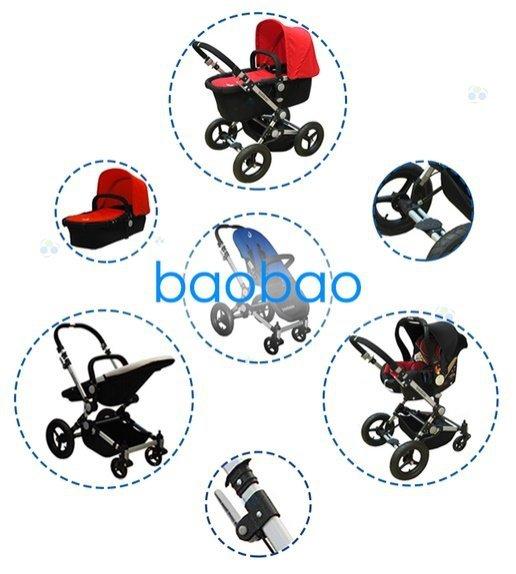 Wózek wielofunkcyjny 2w1 EuroBaby BAOBAO srebrny - nowoczesność i wysoka jakość | Klasa PREMIUM