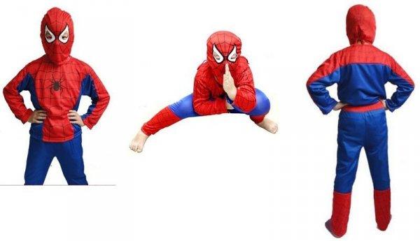 Strój spiderman - trzy pozycje