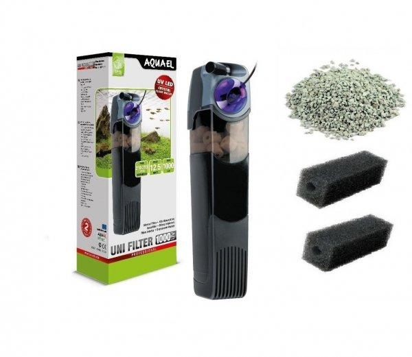 Aquael Filtr Wewnętrzny Unifilter Uv 1000 do 350L 3xGąbka, Zeolit
