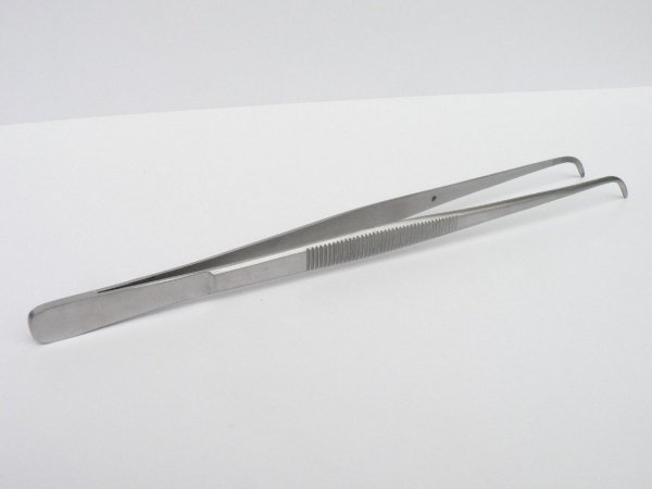 Pinceta Pęseta Zagięta Akwarystyczna Stal Nierdzewna 20cm