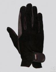 Rękawiczki skórzane KENIG Champion,perforowane,czarne