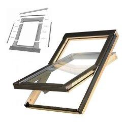 KOMPLET: Okno dachowe OPTILIGHT 78x118 VB+ NAWIEWNIK + KOŁNIERZ