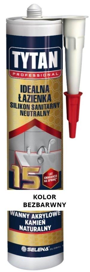 TYTAN Silikon sanitarny neutralny IDEALNA ŁAZIENKA BEZBARWNY 280 ml