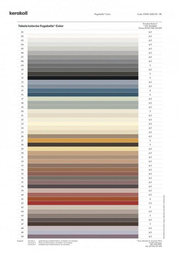 KERAKOLL Fugabella Color Fuga 3 kg Kolor 42