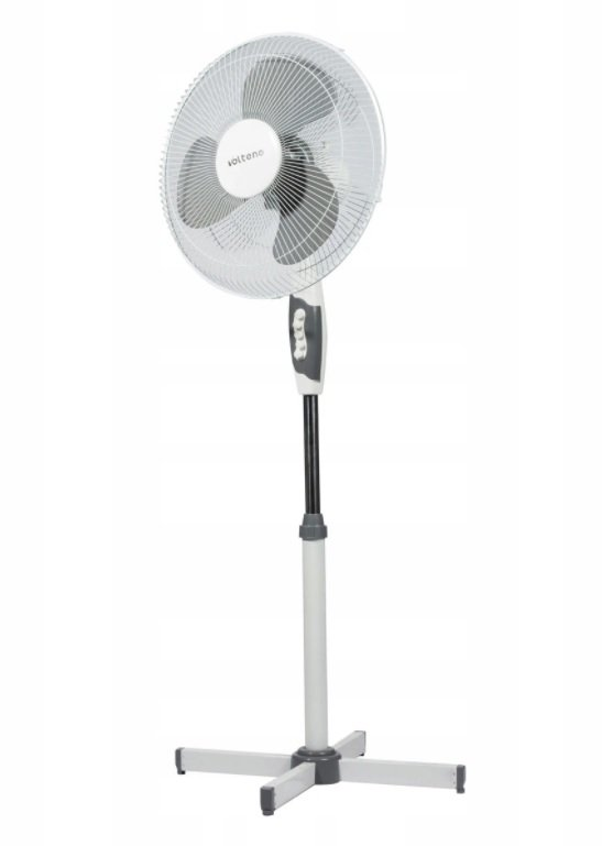 Wentylator podłogowy 40cm / 40W (BIAŁY) MOCNY