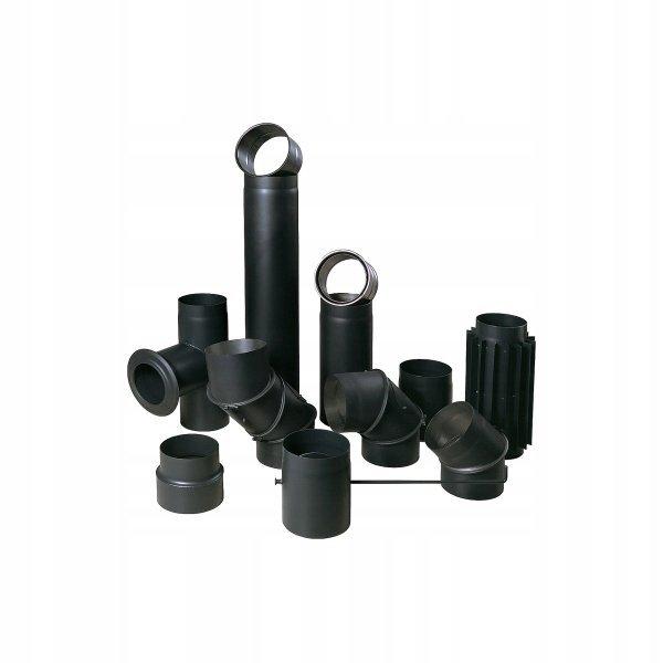 SZYBER SPALINOWY czarny fi 130/250mm 25cm BERTRAMS