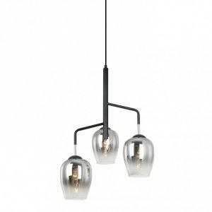 ITALUX LESLA PEN-5359-3-BKCR LAMPA WISZĄCA NOWOCZESNA SZKLANE KLOSZE
