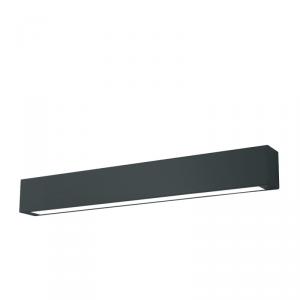 Ibros sufitowy czarny duży 24W 3000K IP44