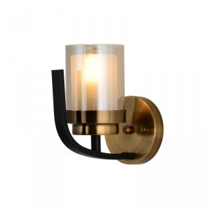 LAMPA ŚCIENNA KINKIET LOFT CZARNO-MOSIĘŻNA BONTON W1
