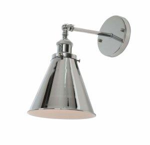LAMPA ŚCIENNA KINKIET LOFTOWY CHROMOWANY RUBI W1
