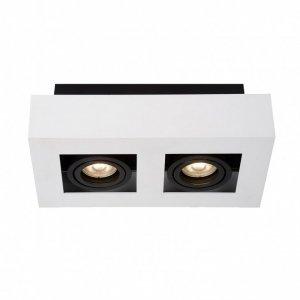 ITALUX CASEMIRO IT8001S2-WH/BK LAMPA OPRAWA NATYNKOWA OCZKO HALOGENOWE NOWOCZESNE CZARNO BIAŁE